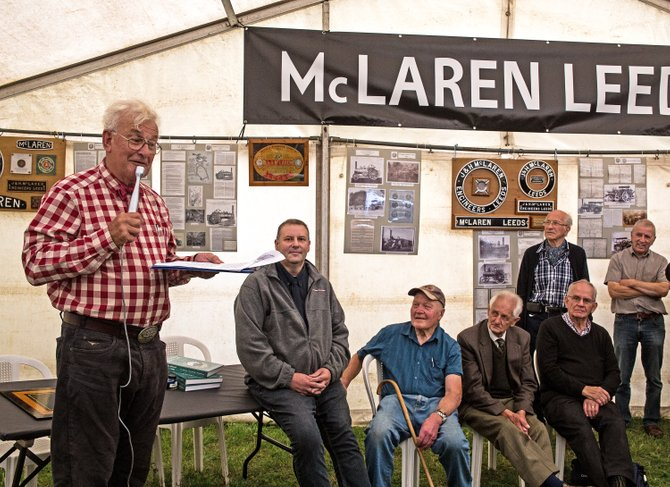 John Wakeham launching McLaren book at South Cerney - Malcolm Ranieri
