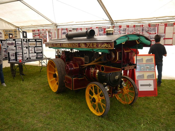McLaren 6 inch scale Showmans engine on display in the marquee - Andrew Smith
