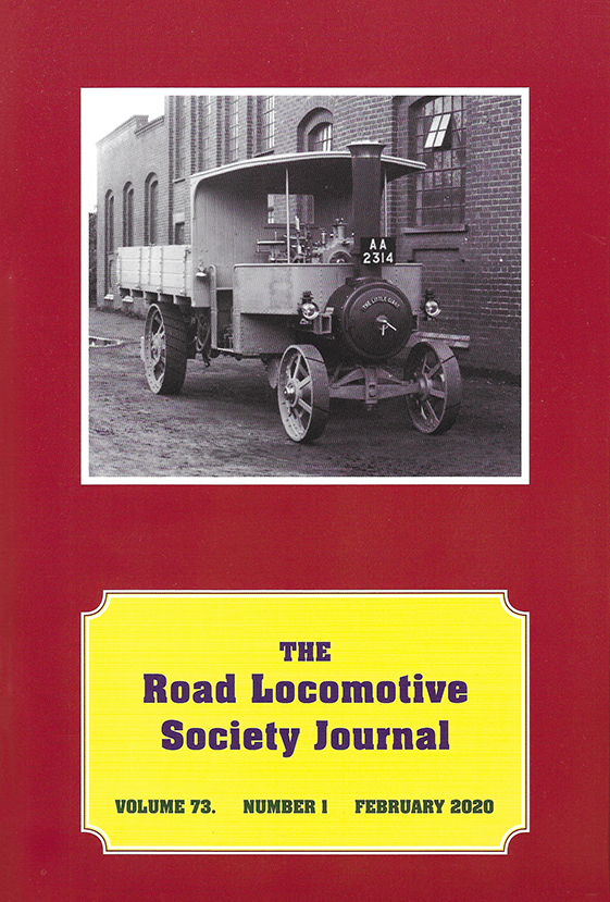 Road Locomotive Society Journal Feb 2020 Front Cover - Tasker Steam Wagon